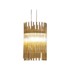 Vistosi Diadema Pendant Light in Topaz by Romani Saccani Architects