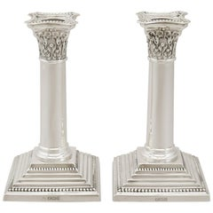 1911 Antique Sterling Silver Candlesticks