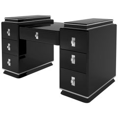 High Gloss Lacquer Two Tower Desk