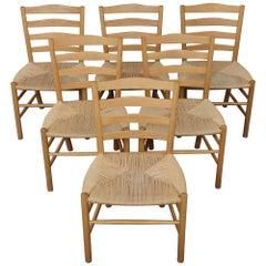 "Six Oak ""Church"" Chairs by Kaare Klint"