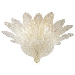 Vistosi Fuochi Flush Light in Crystal by Studio Tecnico, Small