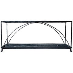 Very Large Country House Wrought Iron Stick Stand, circa 1870