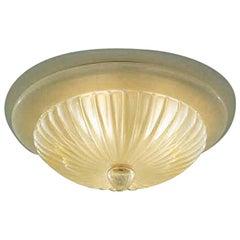 Vistosi Gloria Flush Light in Silk & Gold by Studio Tecnico