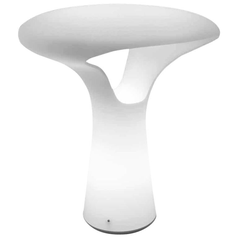 Vistosi Ferea Table Lamp in Satin White by Emmanuel Babled For Sale