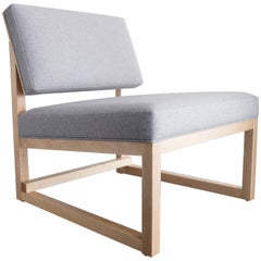SQ3 Lounge Chair in Maple Hardwood Frame and Wool Upholstery