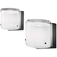 Vistosi Cild Wall Sconce in White and Satin Nickel by Studio Tecnico
