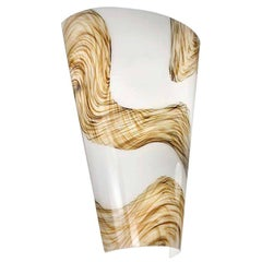 Vistosi Cleo Sconce in White Glass with Gold Flakes by Barbara Maggiolo, Small