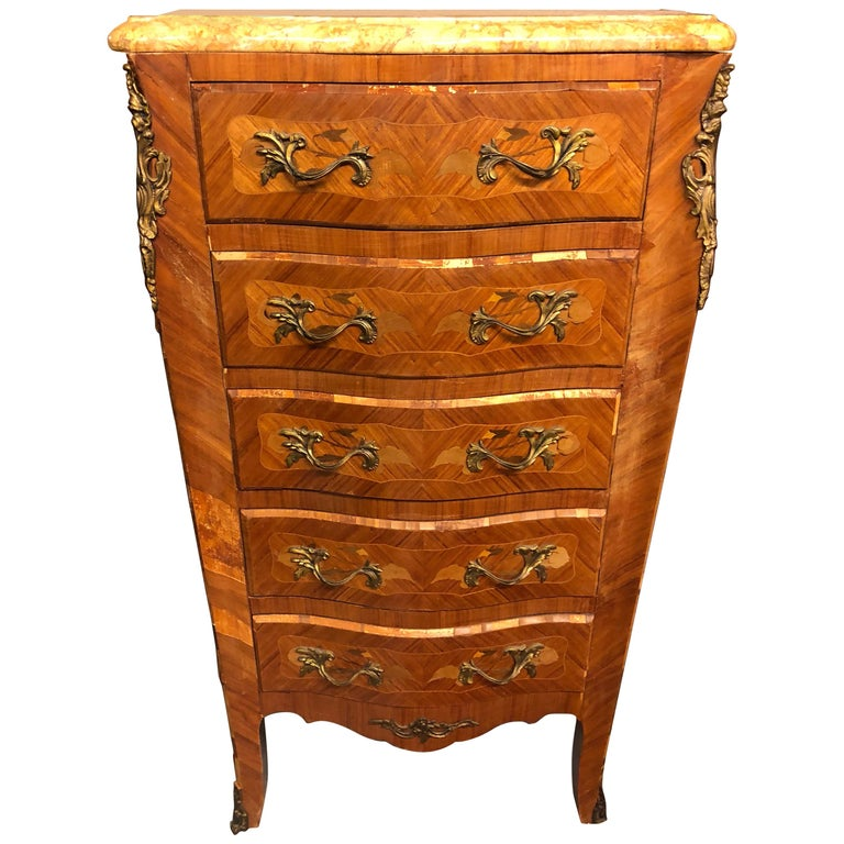 20th Century French Louis XV Style Chest of Drawers or Commode
