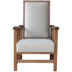 Vintage Mission Style Oak Armchair
