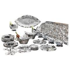 Giuseppe De Luca 20th Century Italian Silver Complete Dining Set, 1930s