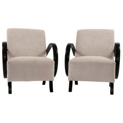 Pair of Jindrich Halabala Lounge Chairs, 1930s