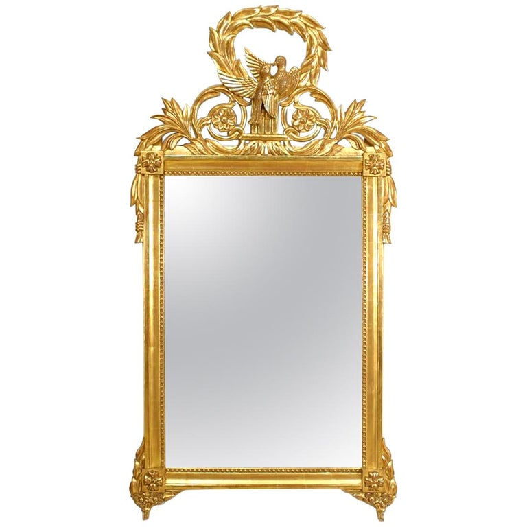 French Louis XV Style Gilt Wall Mirror