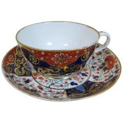 Derby Porcelain Imari Breakfast Cup & Saucer