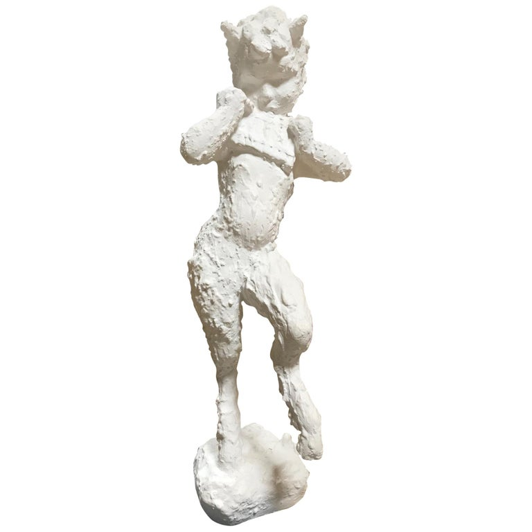 Midcentury Satyr Sculpture of Pan For Sale