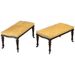 Mid-19th Century Pair of Upholstered Long Stools