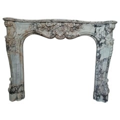 Important Regence Style Callacata Gold Marble Fireplace Mantel, 19th Century