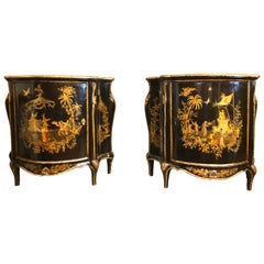 Pair of 19th Century Chinoiserie English Regency Commodes