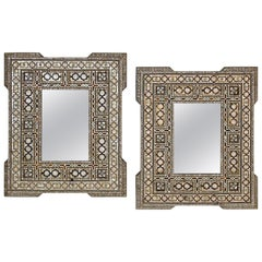 Pair of Mother-of-Pearl Inlaid Middle Eastern Mirrors