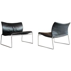 "Pair of Kazuhide Takahama ""Saghi"" Lounge Chairs for Gavina, Italy, 1972"