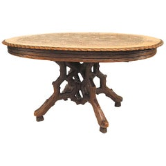 Rustic Black Forest '19th Century' Dining Table