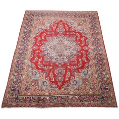 Signed Vintage Persian Tabriz Rug, circa 1960