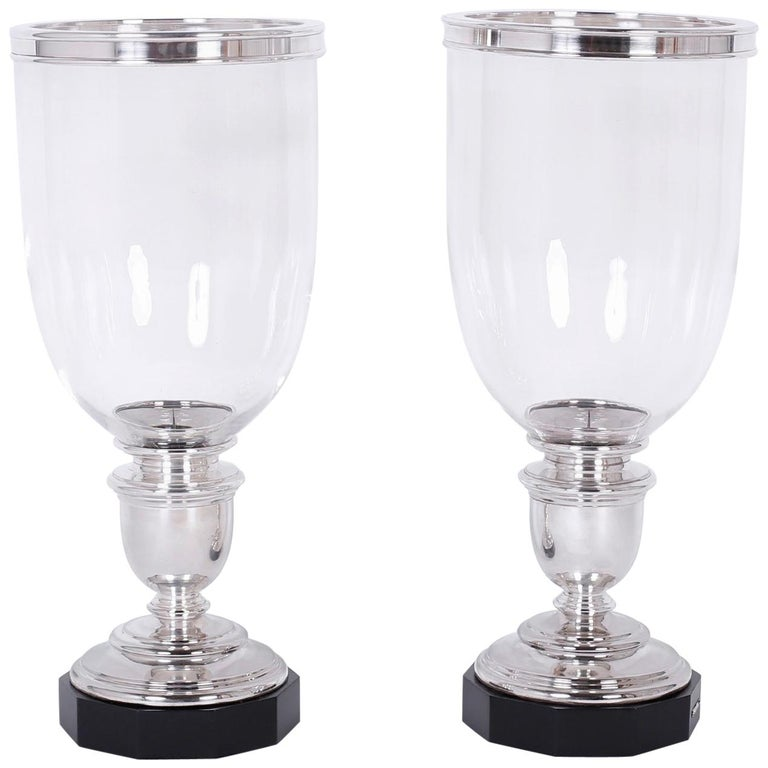 Pair of Hurricane Candleholders