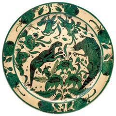 Large French Faïence Green Platter, circa 1850
