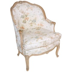 Louis XV Style Bergere with Pickled Finish