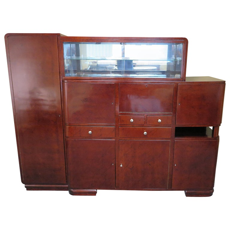 Art Deco Bar Cabinet For Sale