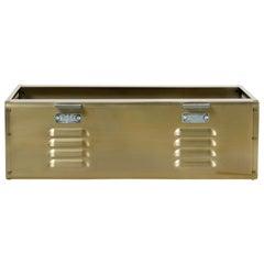 Double Wide Locker Basket in Brass Tone, Custom Made