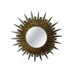 Gilt Metal Eyelash Starburst Mirror