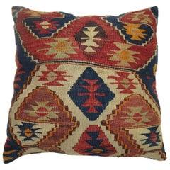 Antique Turkish Kilim Pillow