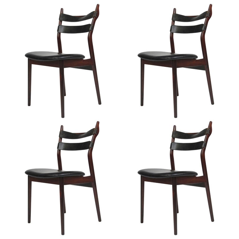 Heldge Sibast Rosewood Dining Room Chairs For Sale