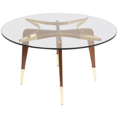 Paolo Buffa Attrib., Italian Midcentury Coffee Table, circa 1950s