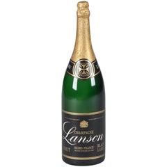 Advertising Champagne Bottle for Lanson, 1980s
