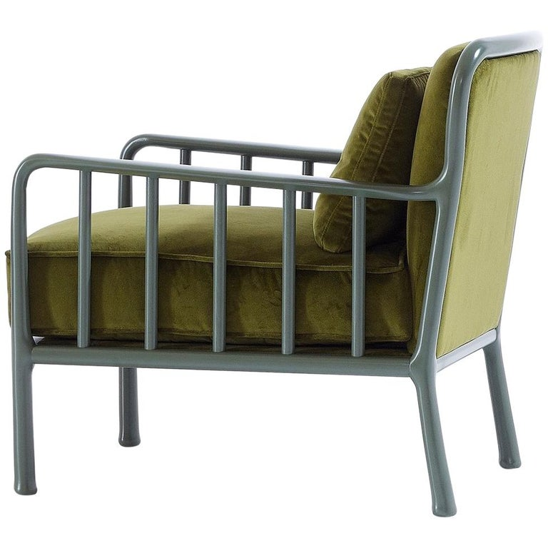 Nube Italia Loom Armchair in Olive Green by Marco Corti
