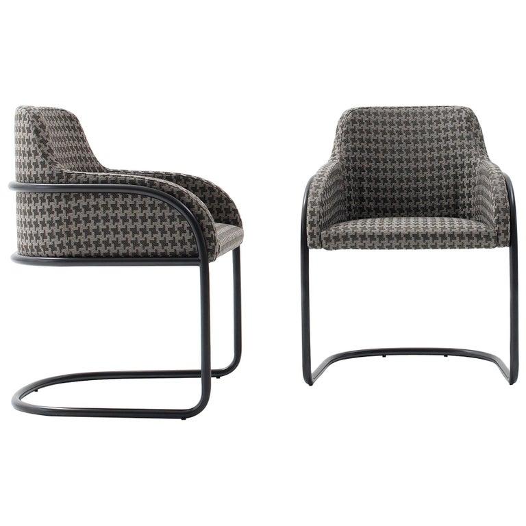 Nube Italia Stream Armchair in Grey Blend Fabric by Marco Corti