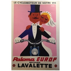 Original Vintage Poster, Lavalette Paloma, Herve Morvan, 1959