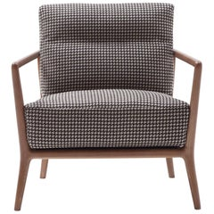 Nube Italia Carlton Armchair in Patterns of Brown Fabric by Marco Corti