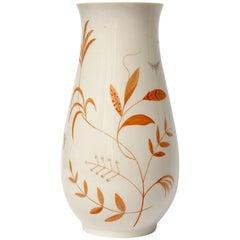 Creme Vase, Royal Copenhagen, Art Nouveau, Porcelain, Denmark, 1950s