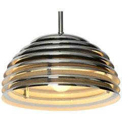 Small Original Saturno Chrome Metal Pendant Lamp by Kazuo Motozawa for Staff