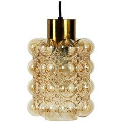 Rare Extra Large Limburg Brass Glass Bubble Pendant Lamp Design Helena Tynell