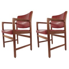 Pair of Erik Ekselius for JOC Design Leather Armchairs