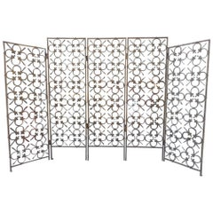 Gilt Metal Midcentury French Partition Screen