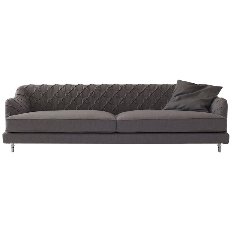 Nube Italia Chloe Sofa In Brown Fabric By Marco Corti For