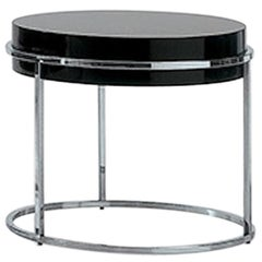 Nube Italia Link A Side Table in Lacquered Black Steel by Ricardo Bello Dias