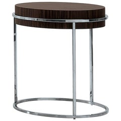 Nube Italia Link a Tall Side Table in Lacquered Brown by Ricardo Bello Dias