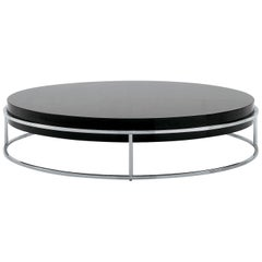 Nube Italia Link a Coffee Table in Lacquered Black by Ricardo Bello Dias