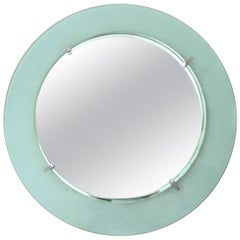 Italian Round Curved Glass Frame by Cristal Art, 1960s