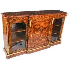 Antique Victorian Burr Walnut Inlaid Credenza Edwards & Roberts 19th Century